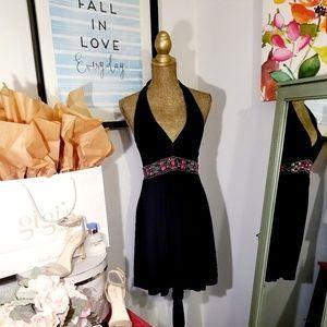 WHBM Jeweled Halter Dress